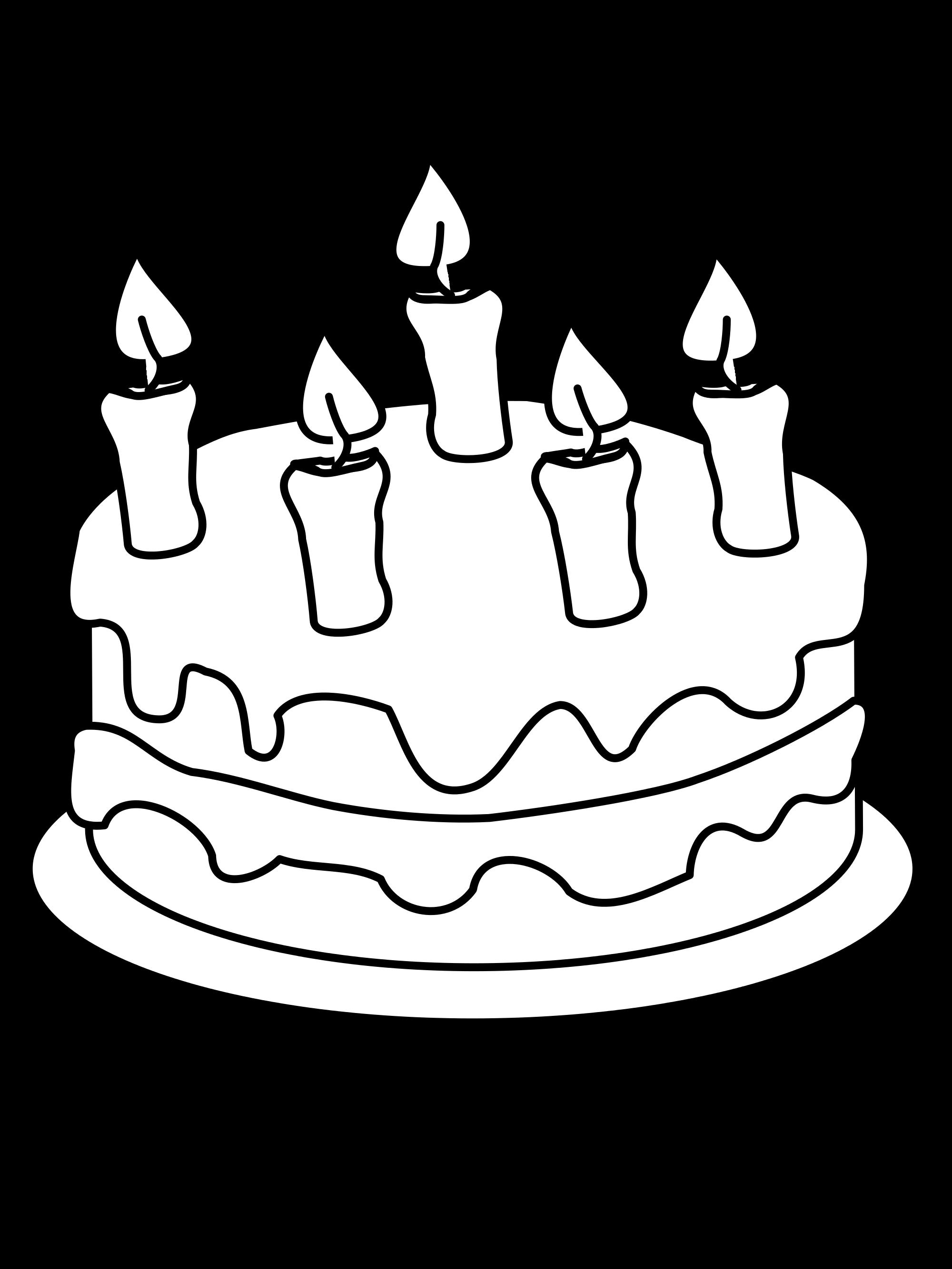 2000x2667 Printable Birthday Cake Drawing