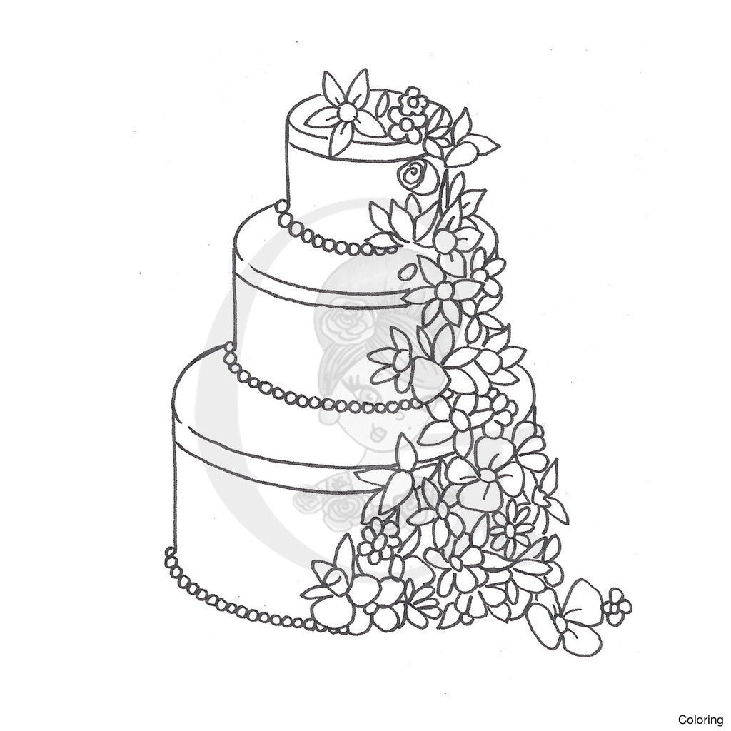 1024x1024 Simple Birthday Cake Drawing Color Pagesctivity 1 How To Draw