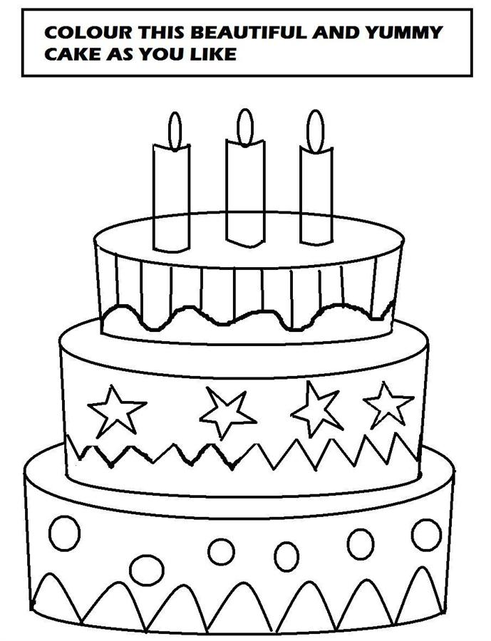 689x900 Beautiful Cake Coloring Printable Page For Kids