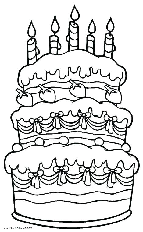 469x762 Cake Coloring Pages Birthday Cake Coloring Page Picture Wedding