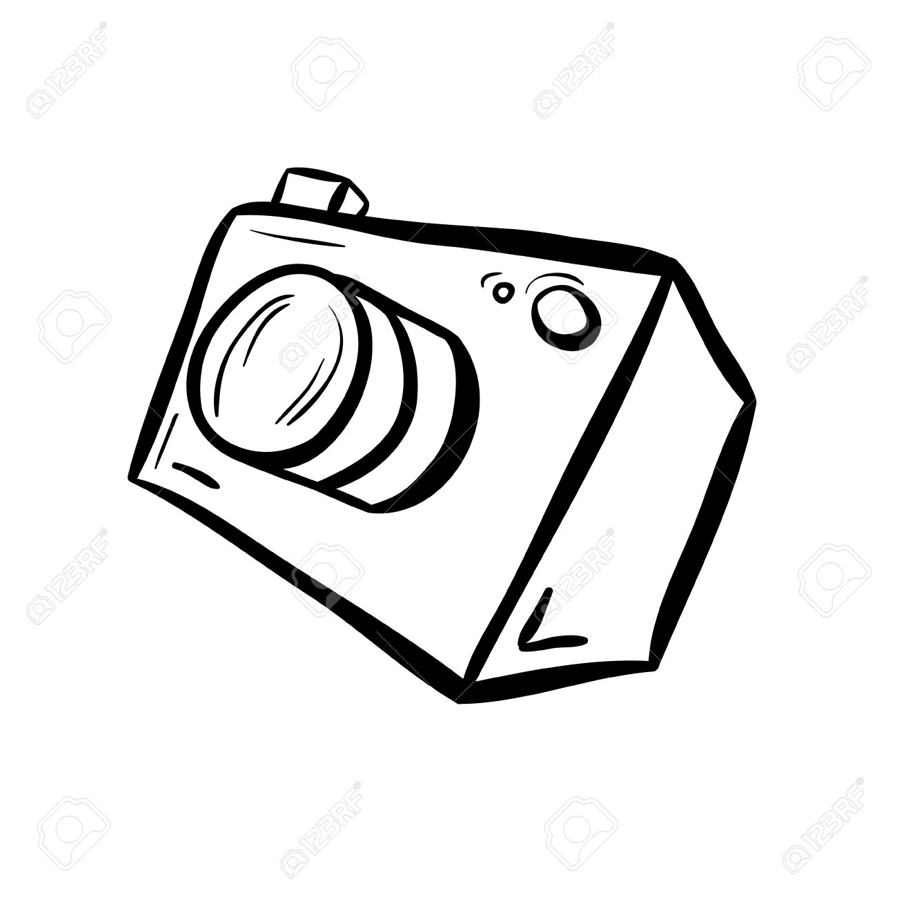1300x1300 Illustration Of A Camera. Take A Photo, Take A Picture. Simple
