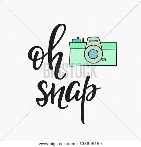 450x470 Oh Snap Photo Booth Vintage Old Vector Amp Photo Bigstock