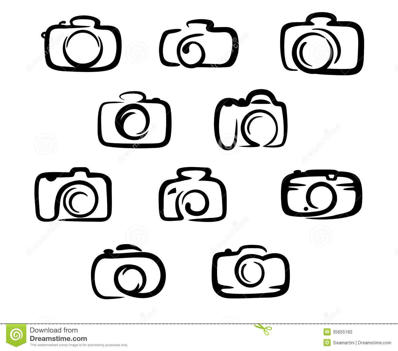 1300x1146 Camera Icons Set Stock Photography
