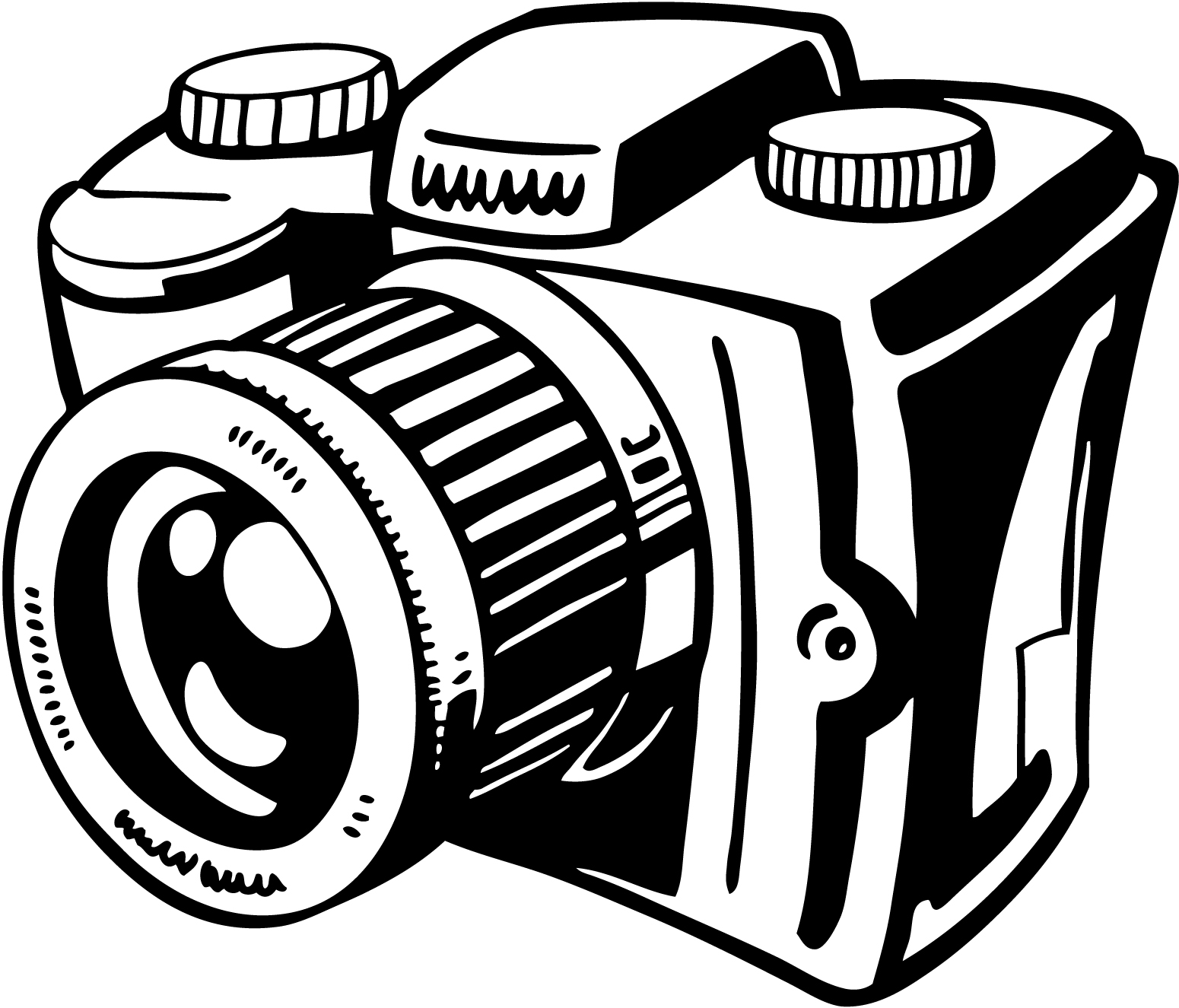 1550x1325 Simple Camera Clipart Black And White