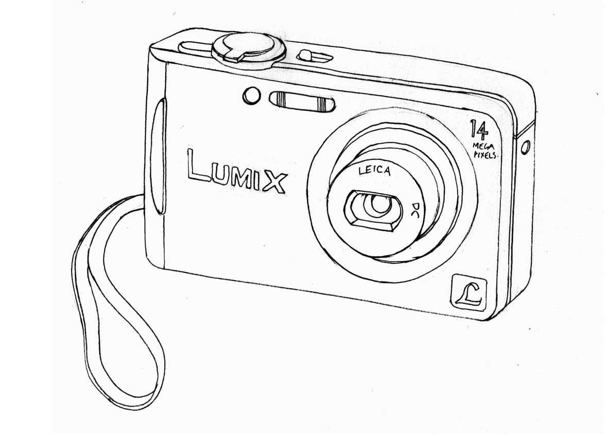 1181x850 Simple Drawing Of A Camera Drawings Of Cameras