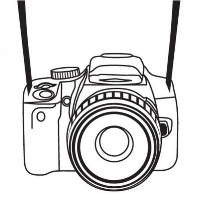 800x800 Simple Camera Clipart Black And White