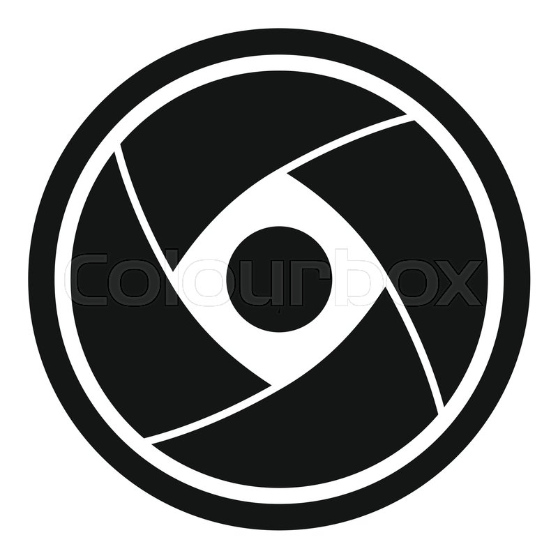 800x800 Camera Lens Icon. Simple Illustration Of Camera Lens Vector Icon