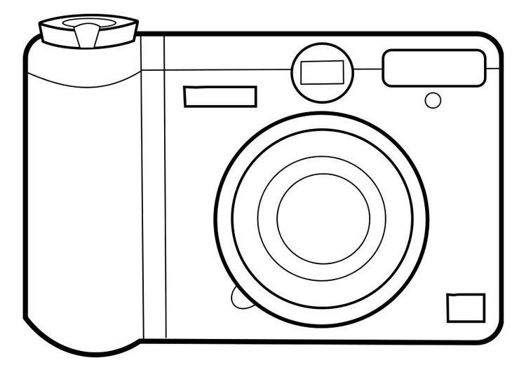 750x531 Coloring Page Camera Arts And Crafts Cameras