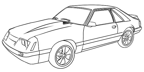 600x300 08 2015 Ford Mustang Render. Outline Horse Drawing. Mustang