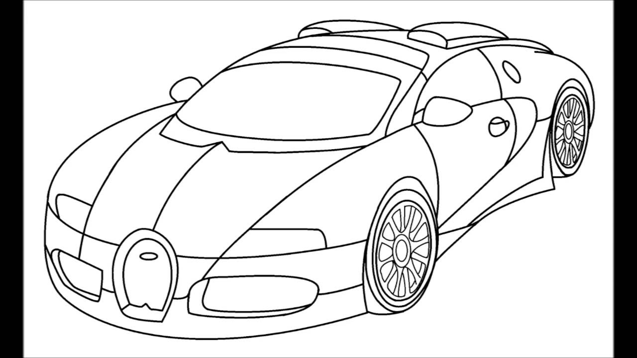 1280x720 How To Draw A Bugatti Veyron Step By Step For Kids