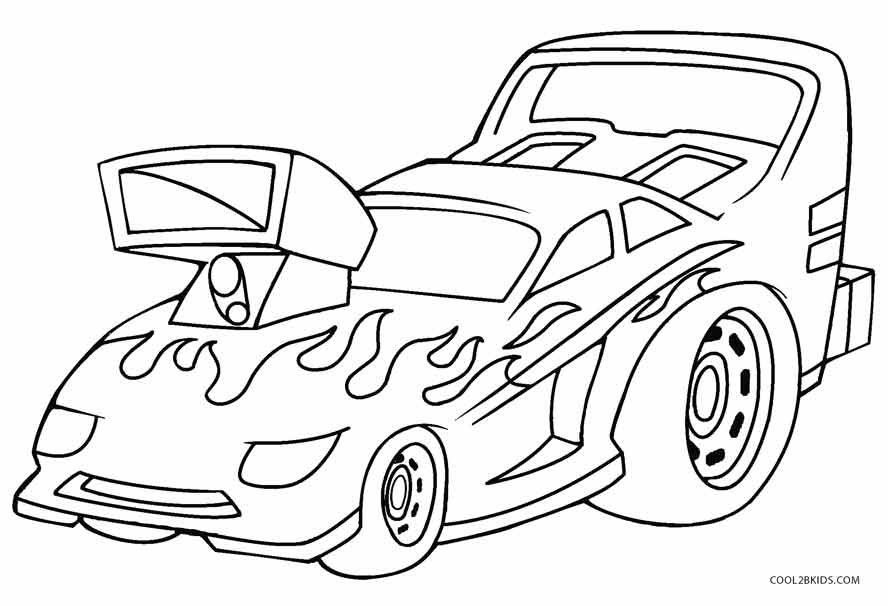 888x606 Printable Hot Wheels Coloring Pages For Kids Cool2bKids Car