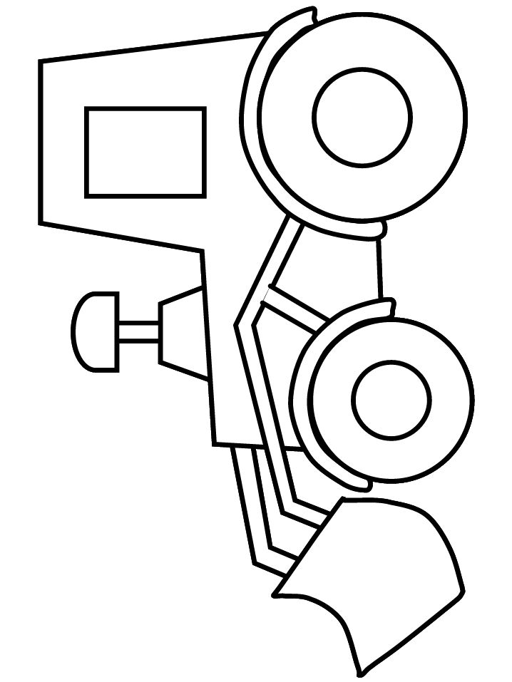 718x957 Simple Truck Coloring Pages For Kids