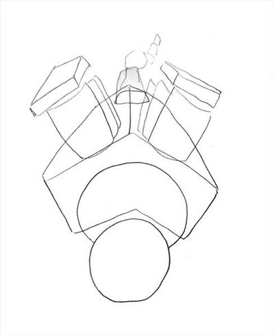 400x491 How To Draw A Car Engine (With Pictures) Ehow