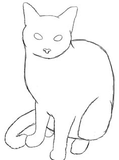 236x316 How To Draw A Cat Cat Drawing And Easy Cat Drawing