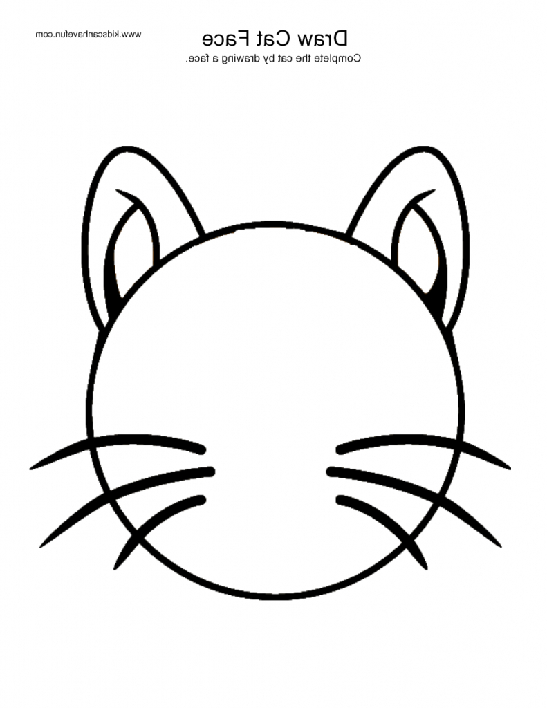 791x1024 Simple Cat Drawing