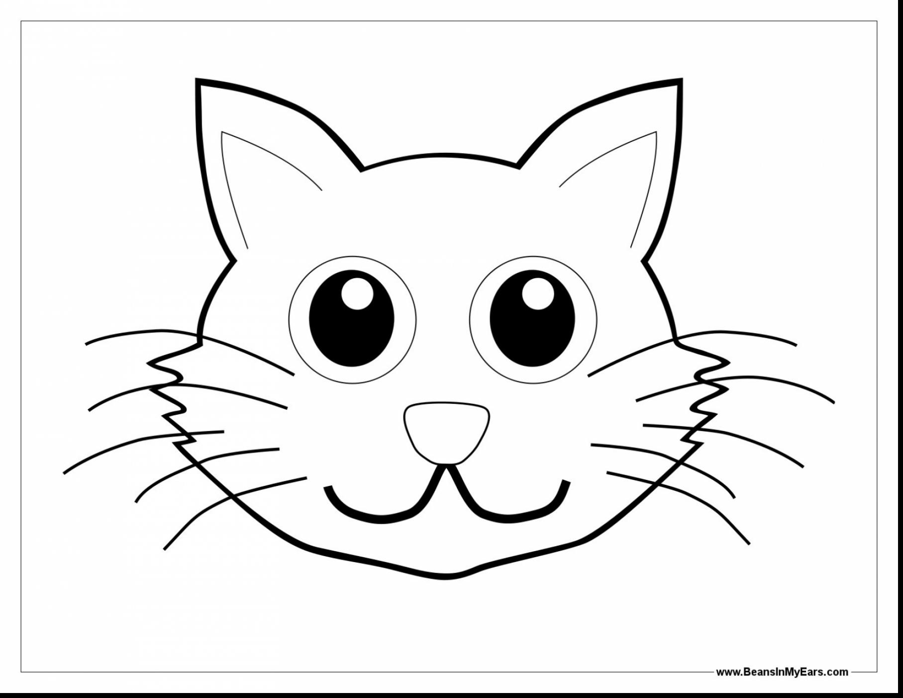 Simple Cat Face Drawing at GetDrawingscom Free for personal use