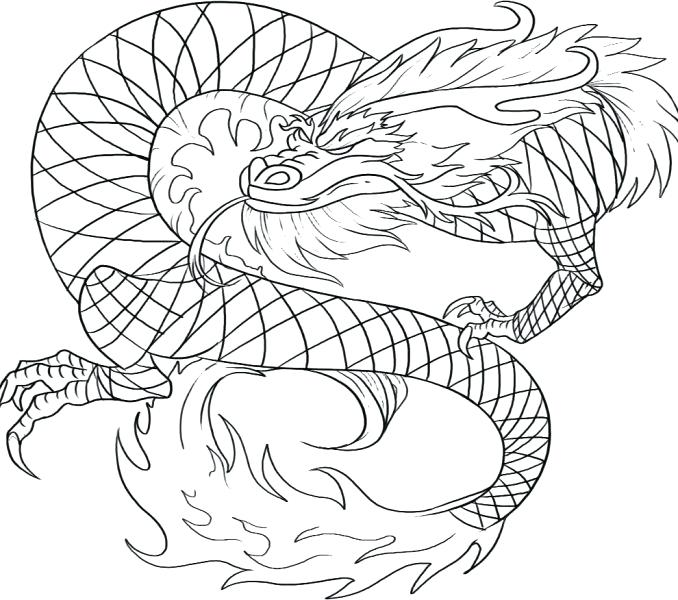 678x600 Chinese Dragon Coloring Pages New Year Dragon Drawing Dragon