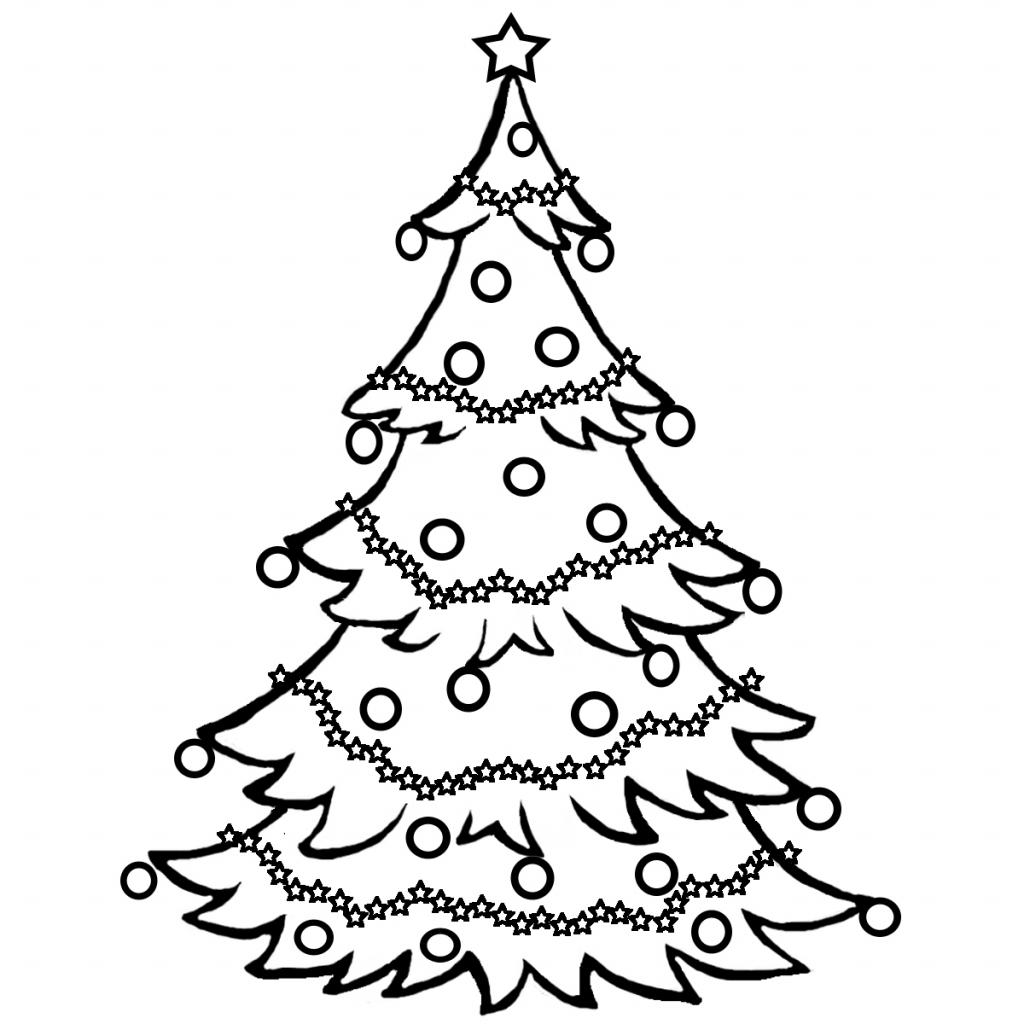 1024x1024 Drawing Of Christmas Tree A Simple Christmas Tree, Addeddawn