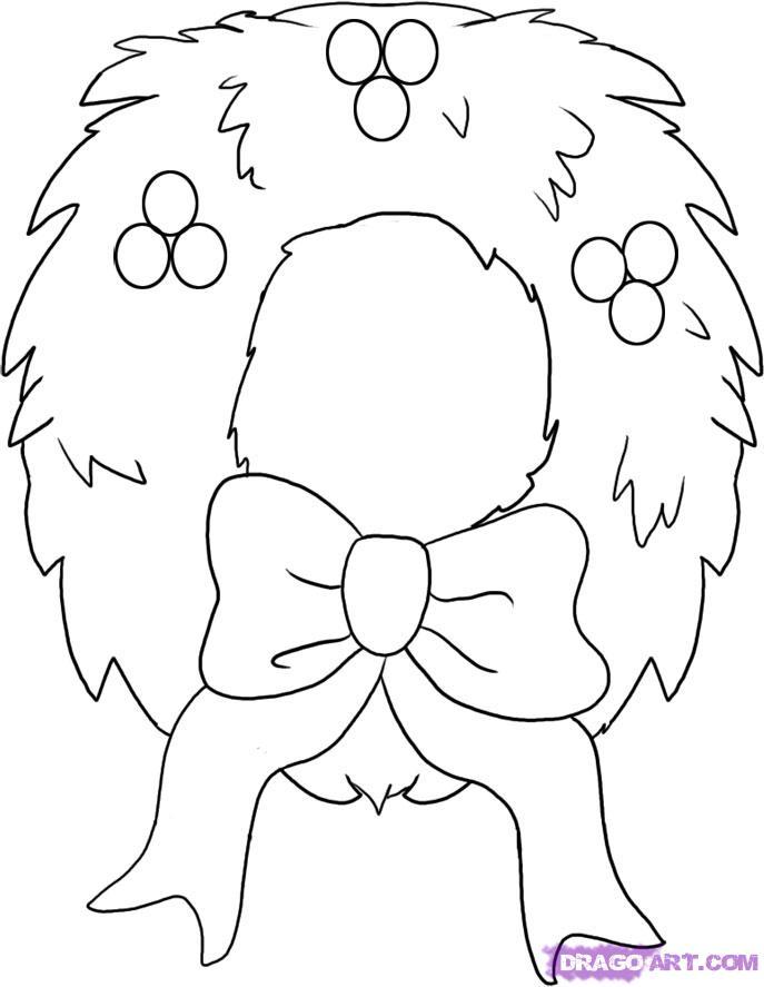 687x887 Simple Christmas Drawings Fun For Christmas
