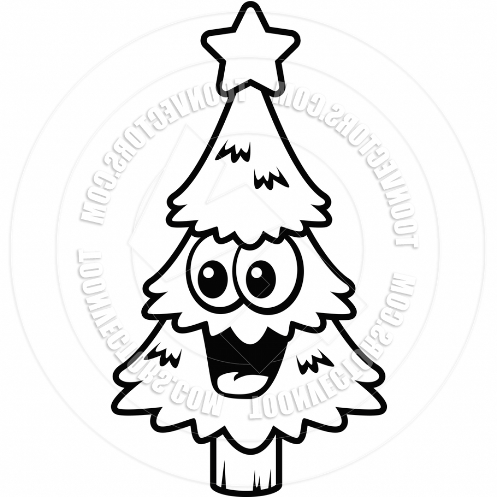 1024x1024 Simple Christmas Drawing Simple Black And White Tree Drawing