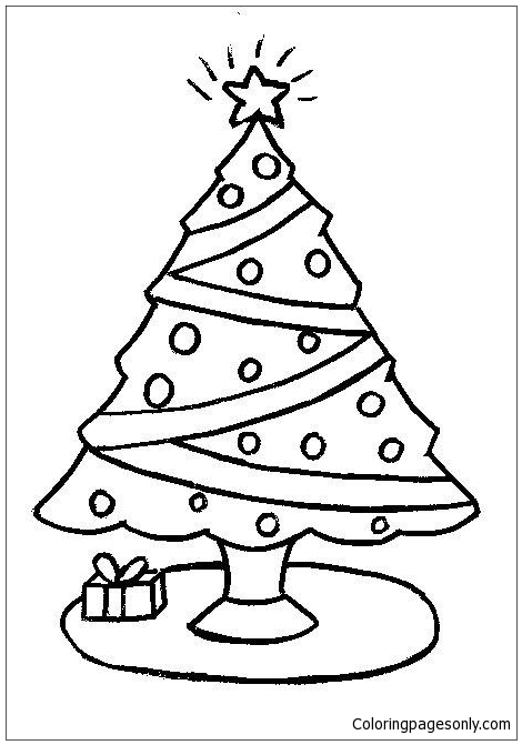 470x671 Simple Christmas Tree Coloring Page