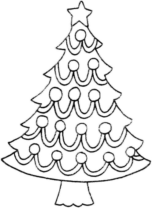 500x678 Best Christmas Tree Outline