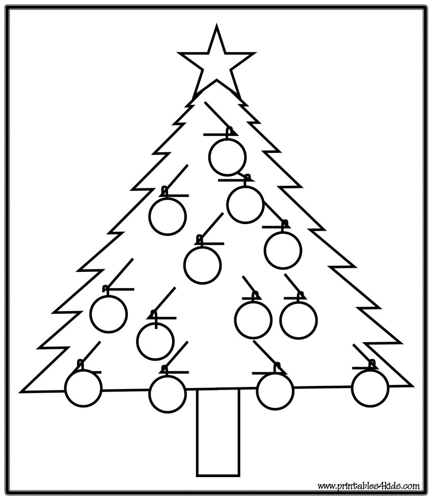 Simple Christmas Tree Drawing at GetDrawings.com | Free for personal ...