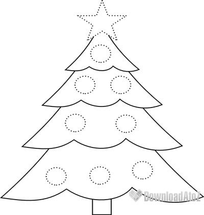 400x420 Simple Xmas Tree Drawing
