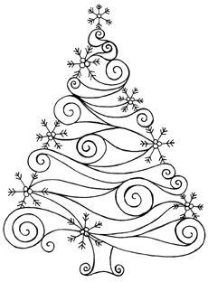 230x312 Swirl Amp Snowflake Tree Christmas Christmas Tree