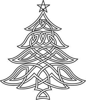 299x347 Celtic Christmas Tree Image By Urban Threads