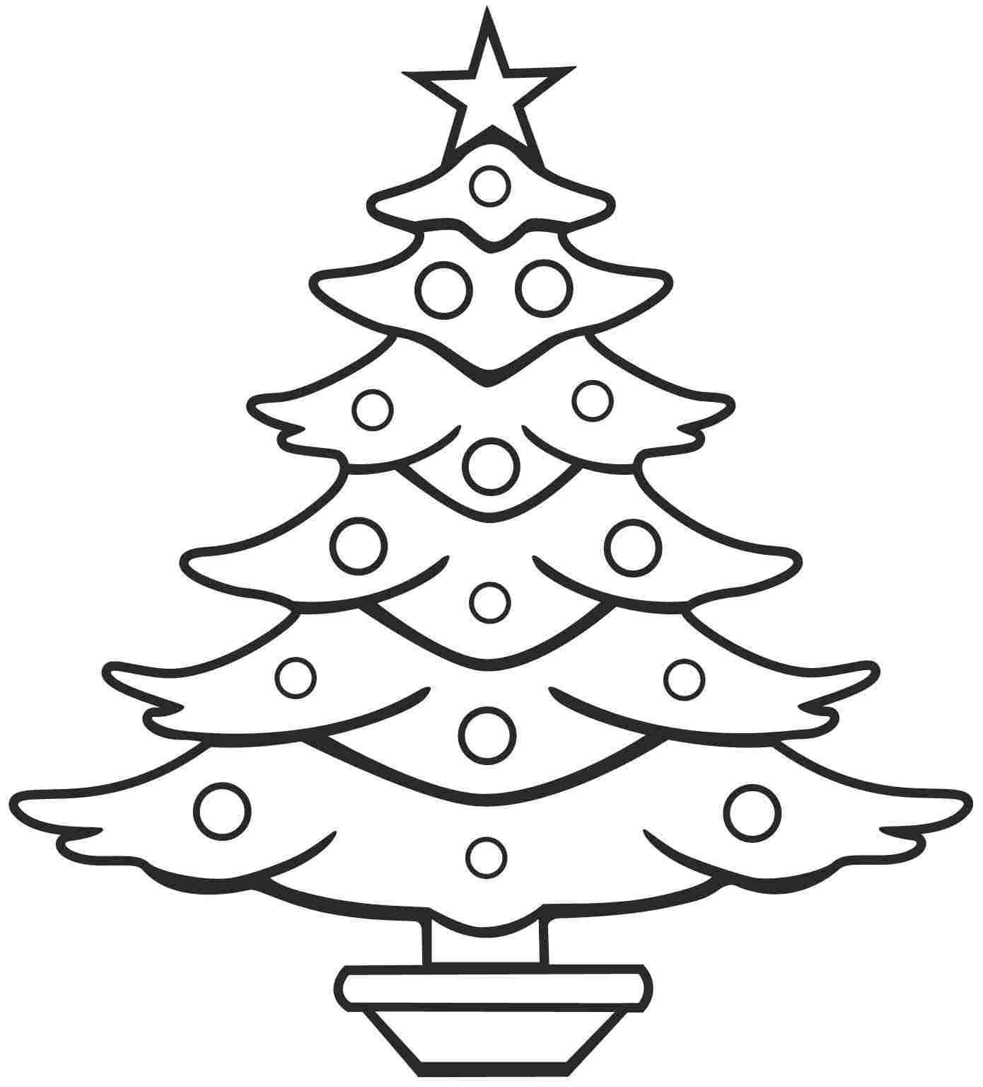 Simple Christmas Tree Drawing at GetDrawings   Free download
