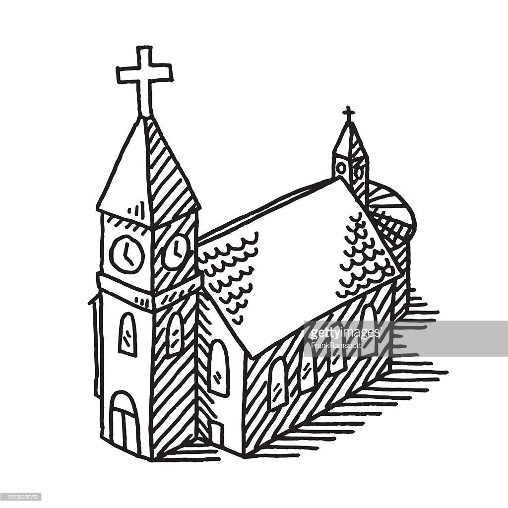 1024x1024 Church Drawing