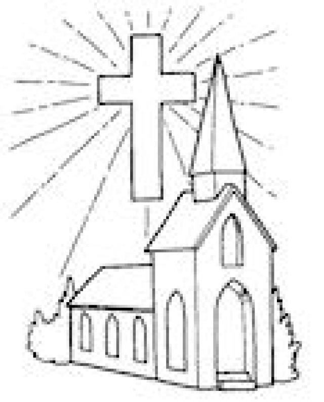 640x793 Church Pictures To Colour 24089