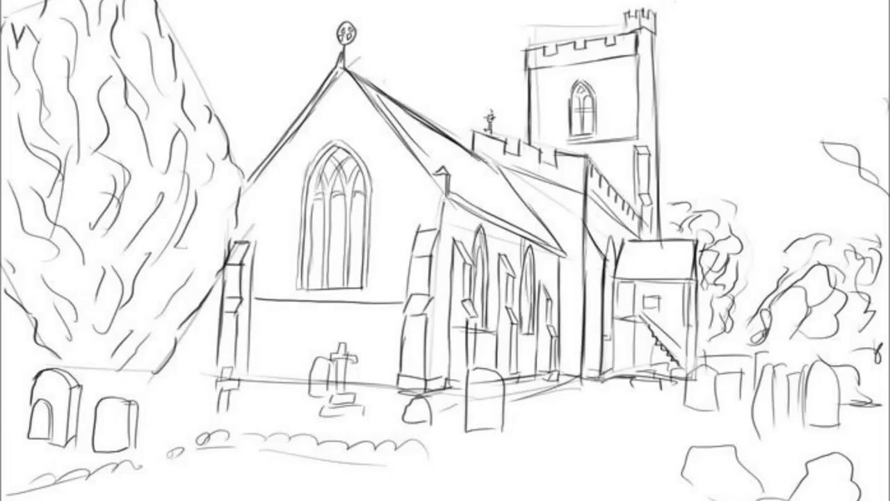 1280x720 How To Draw A Church