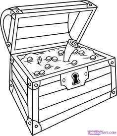 236x274 A Simple Drawing Of Locked Treasure Chest Coloring Page Sunday