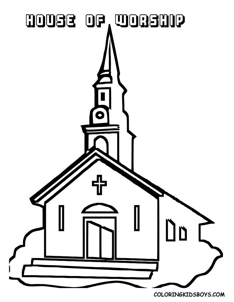 816x1056 Simple Church Coloring Page Simple Colorings