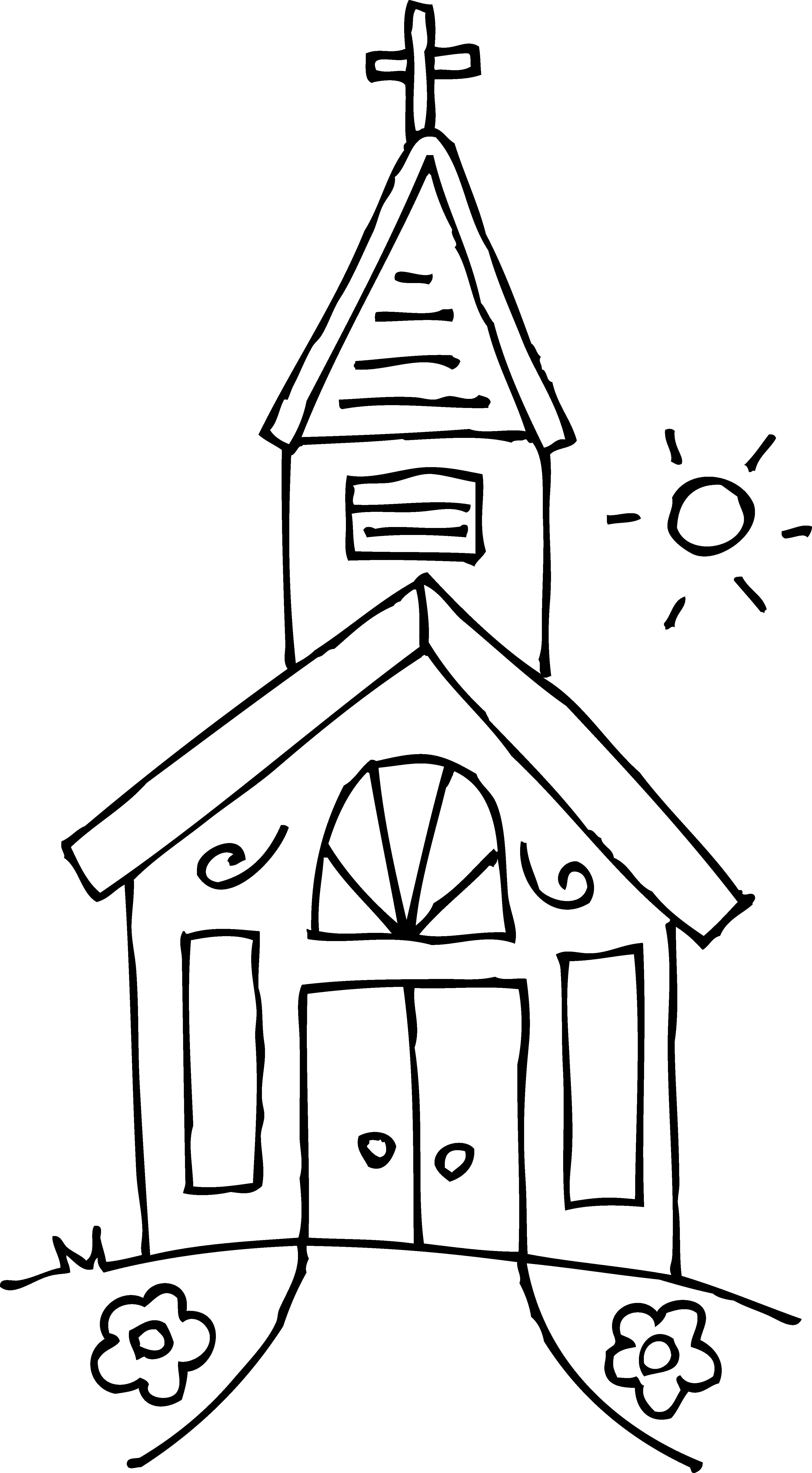 Simple Church Drawing at GetDrawings.com | Free for personal use ...