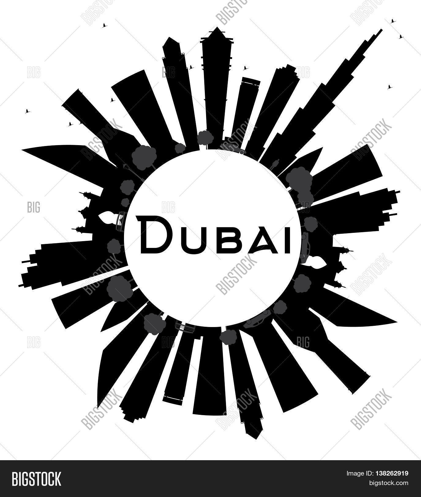 1375x1620 Dubai City Skyline Black White Image Amp Photo Bigstock