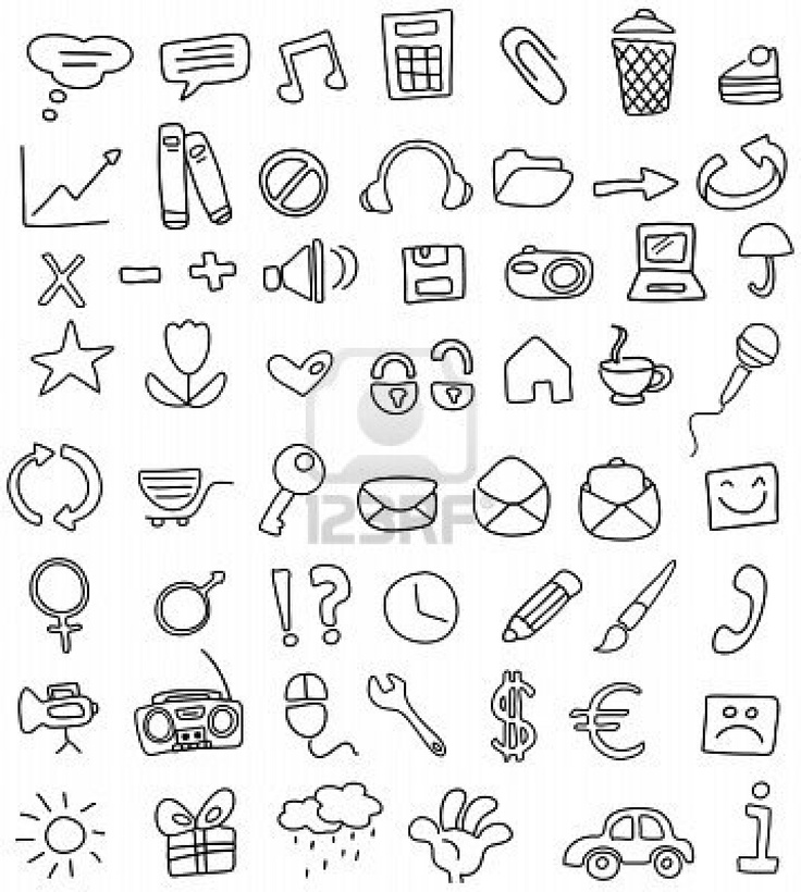 736x820 Image Result For Simple Drawing Icons Drawings Pinterest