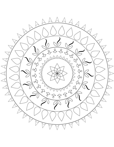 371x480 Simple Mandala Coloring Page Free Printable Coloring Pages