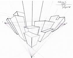 252x200 Three Point Perspective Drawing. Drawing Three