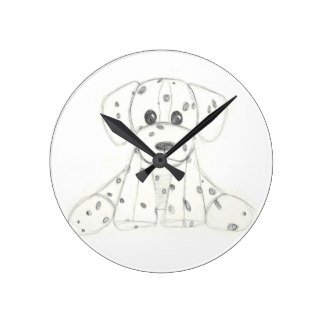 324x324 Simple Drawing Wall Clocks Zazzle