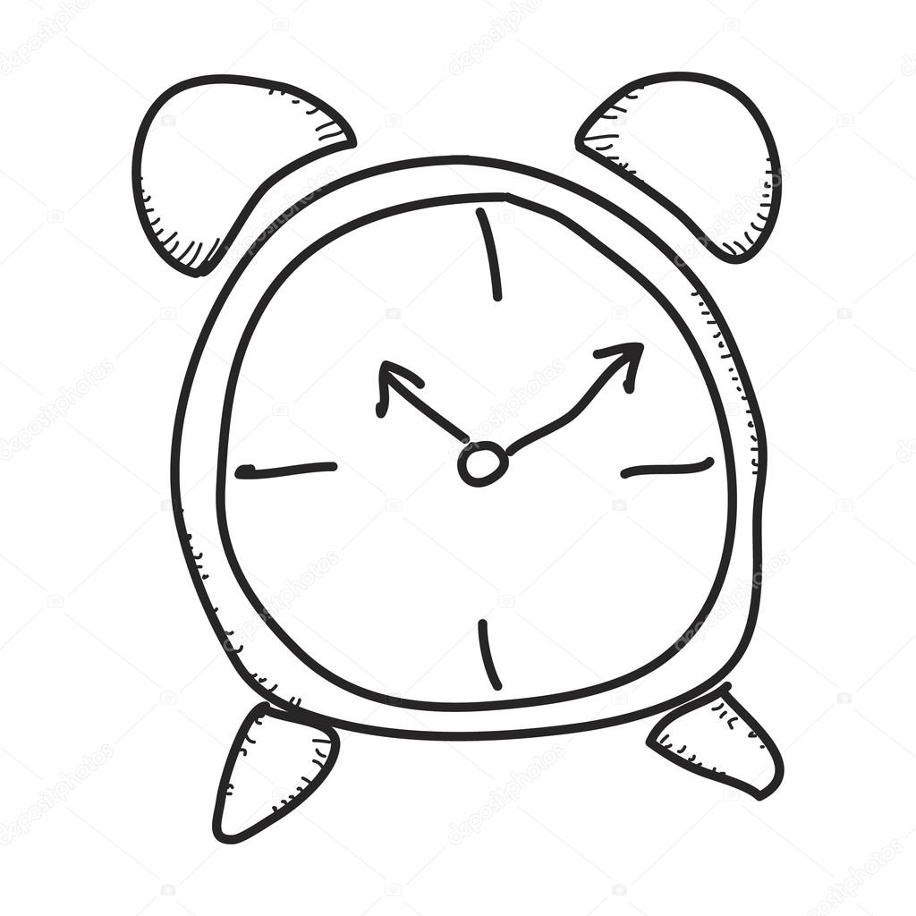 1024x1024 Simple Doodle Of A Clock Stock Vector Chrishall