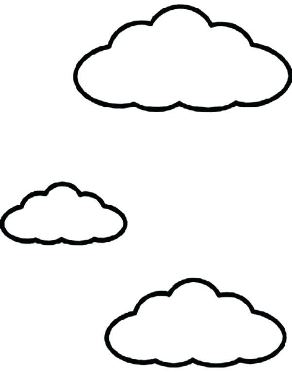 clouds coloring page - simple cloud drawing at free for