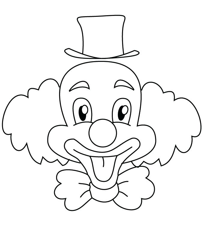 700x800 Clown Faces To Color Clown Coloring Pages Clown Playing
