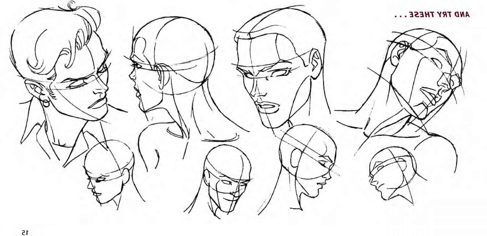 1602x778 Simple Drawing Of Different Faces Head Tilts And Turns