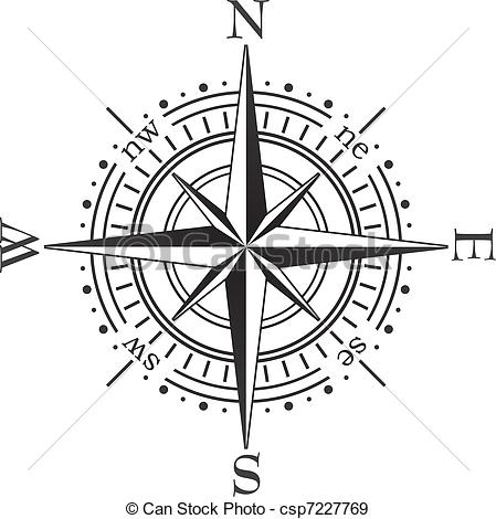 449x470 Compass Clipart Line Drawing