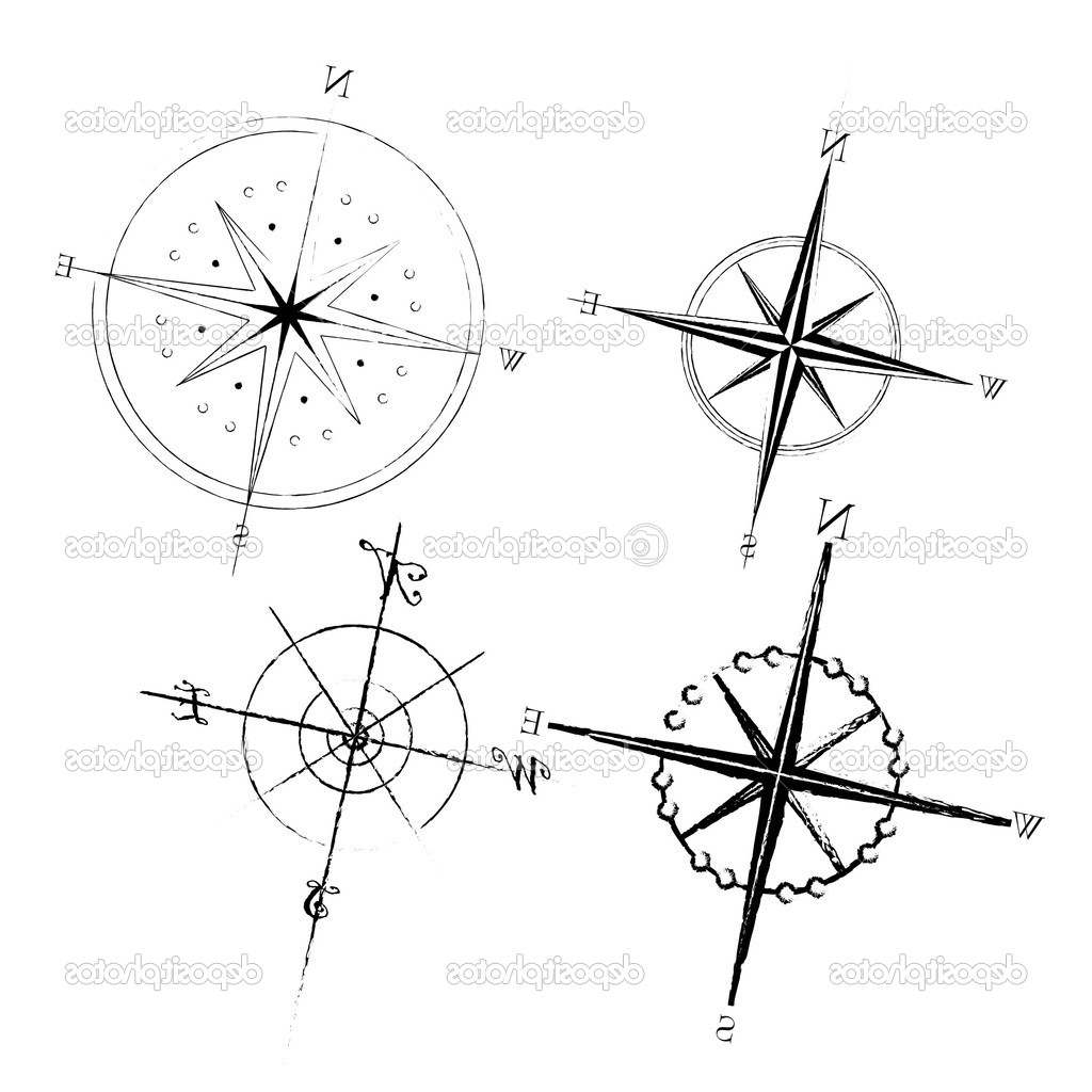 1024x1024 Simple Compass Tattoo Designs Images About Tattoos