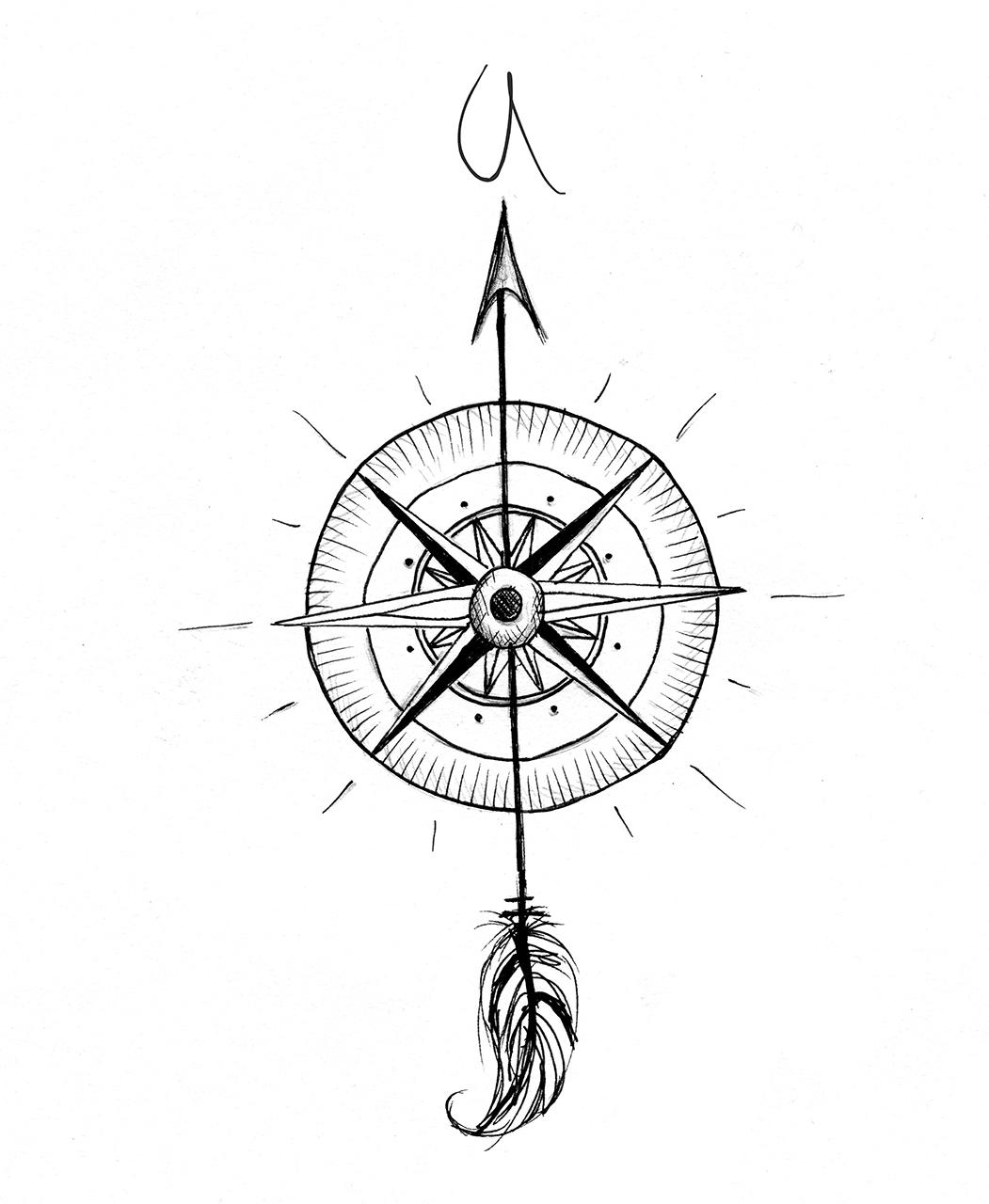 1051x1280 Simple Compass Tattoo Designs Compass Tattoo Design Fresh 2017