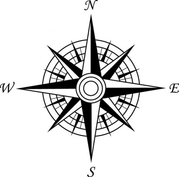 626x621 Simple Compass Cardinal Points Vector Illustrations